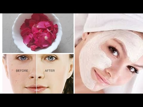 Get Pinkish Bright Fairer Skin at Home | Rose Petals Face Pack