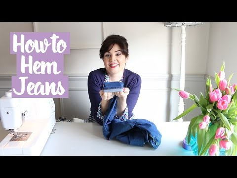 How to Hem Jeans (Keeping the Original Hem)