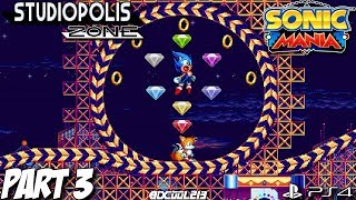 Sonic Mania Gameplay Walkthrough Part 3 - Studiopolis Zone - PS4 Lets Play