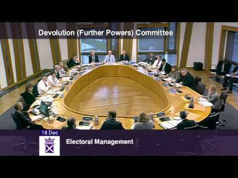 Devolution (Further Powers) Committee - Scottish Parliament: 18th December 2014