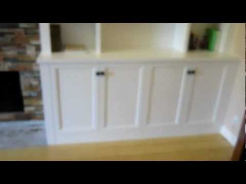 Painted Bookcase Wall and Entertainment Center
