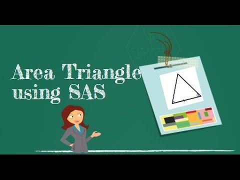 Area of a triangle using the side angle side-Geometry Help