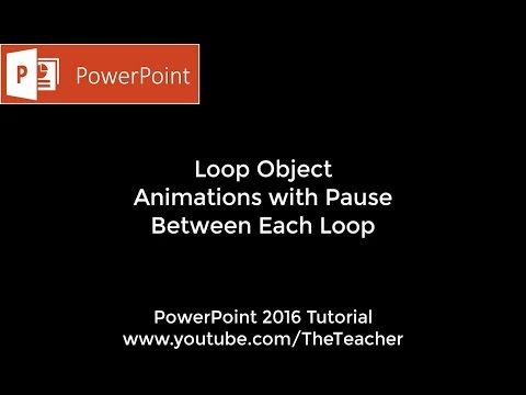 Loop Animation With Pause Between Each Repeat | PowerPoint 2016 Tutorial