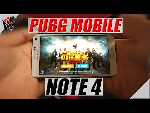 PUBG Mobile ON THE GALAXY NOTE 4