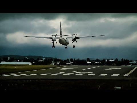 Flugfélag Íslands/Air Iceland Fokker 50 TF-JMT --- Landing at Reykjavík-Domestic Airport (Full HD)