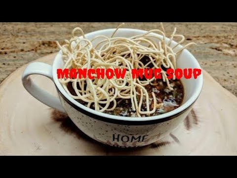 Vegetable Manchow soup in a Mug - Microwave Recipe