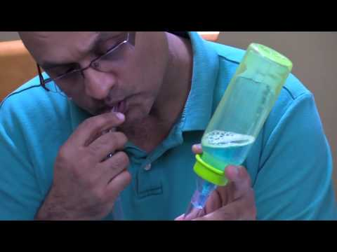 Testing  a vented and a non vented baby bottle