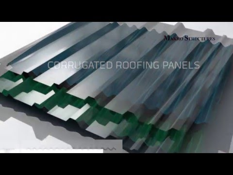 How to install corrugated roof panels.