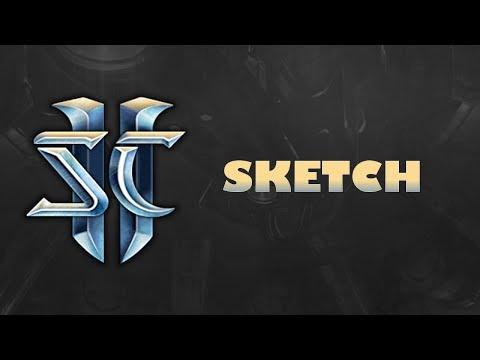 Creating terrain for sc2 / map 4 /sketch