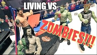GTS WRESTLING: ZOMBIE CASKET MATCH! WWE Mattel Figure Animation PPV Event