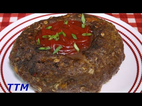 How to Make Meatloaf in the Toaster Oven~Meatloaf with Oats and Ketchup