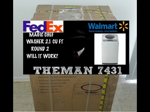 MAGIC CHEF WASHER 2.1 CU FT UNBOXING #2