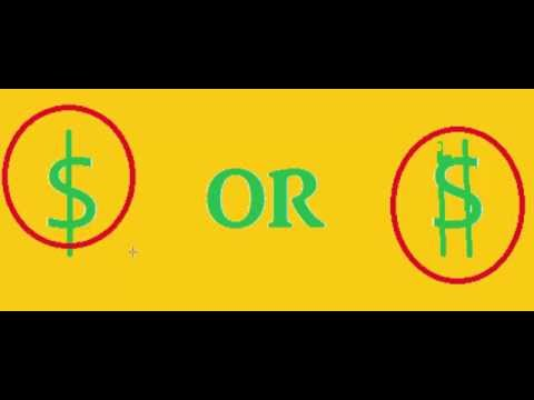 Does A Dollar Sign Have 1 or 2 Lines?