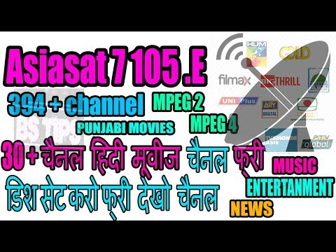 asiasat7 105.E dish setting on c band dish channel list