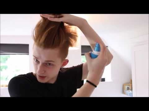 CURLY TO STRAIGHT: Mens hair tutorial - slicked back [UNDERCUT]
