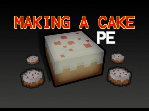 Minecraft PE - MAKING A CAKE