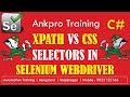 Selenium with C# 12 - Selenium Xpath vs CSS selector | Differences between xpath and css locators
