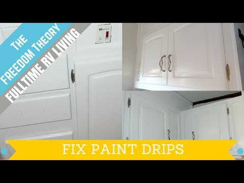 HOW TO | FIX PAINT DRIPS | The Freedom Theory