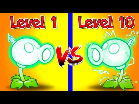 Plants vs Zombies 2 Electric Pea Level 1 vs Max 10 - Plantas Contra Zombies 2 Compare Plants