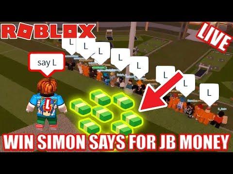 WIN SIMON SAYS for FREE Jailbreak Money! | 🔴 Roblox Jailbreak Free Jailbreak Cash LIVE!