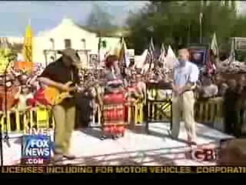 Ted Nugent performs the Star Spangled Banner  US National Anthem  on Glenn Beck FOX News