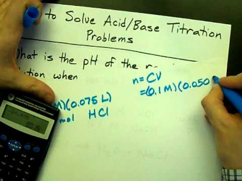 How to Solve Titration Problems (HCl + NaOH)