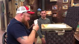 My son surprising his stepdad with adoption papers on Father