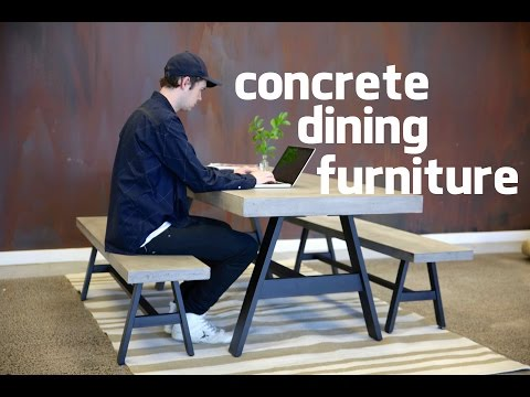 CONCRETE DINING TABLE & BENCHES