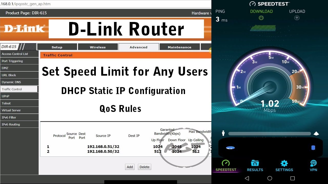 D-Link Router Set speed limit for any users (Bandwidth control   Bandwidth management)