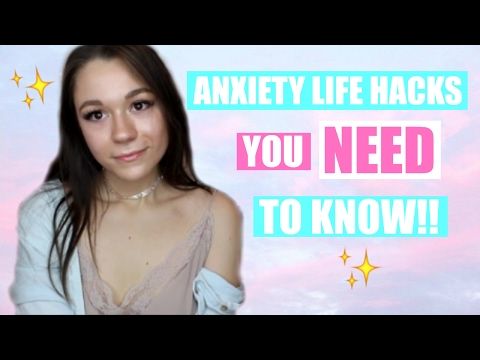 EASY ANXIETY LIFE HACKS! - Tips on how to stop panic attacks and calm anxiety