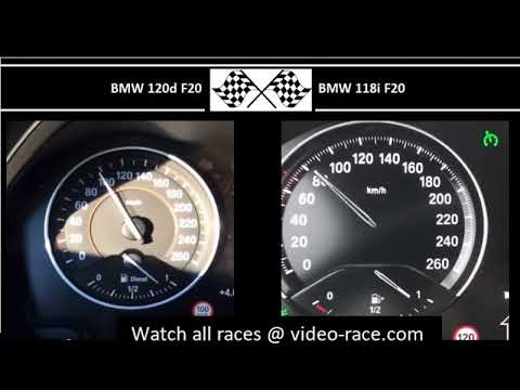 BMW 120d F20 VS. BMW 118i F20 - Acceleration 0-100km/h