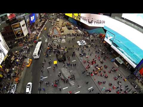 New Jersey Supercross Times Square GoPro Drone