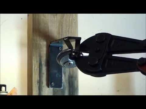 Bolt cutters vs Brinks R70 disk lock