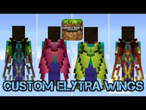 How to Get Custom Elytra Wings in Minecraft Pocket Edition!!! (IOS)
