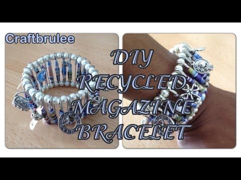 DIY: Recycled Paper Magazine Bracelet - Craftbrulee