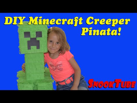 DIY Minecraft Creeper Pinata tutorial!
