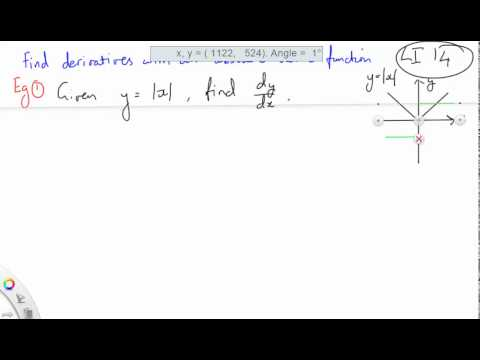 14 Find derivatives with an absolute value function part 1