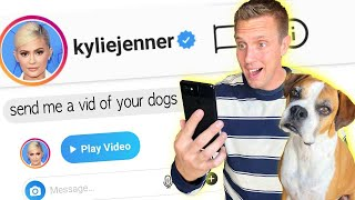 Giving $10,000 to CELEBRITIES who respond to my instagram DM!