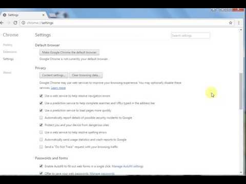 Chrome Tricks Setting Auto fill value