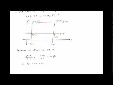 Find equations of diagonals of a parallelogram whose sides are given by the following equations.