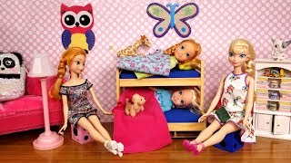 AFTER School routine ! Elsa and Anna toddlers - bedtime - homework - evening - dinner