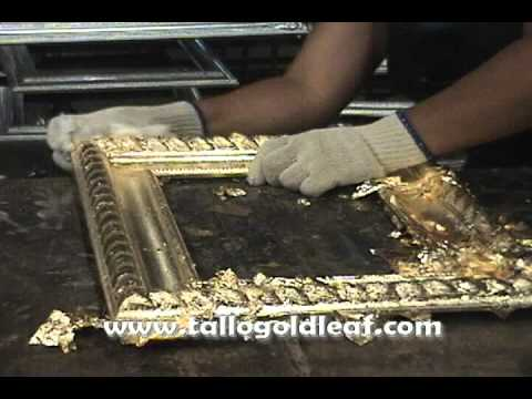 how to apply gold leaf on picture frames