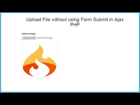 Upload Image without using Form Submit in PHP with Ajax