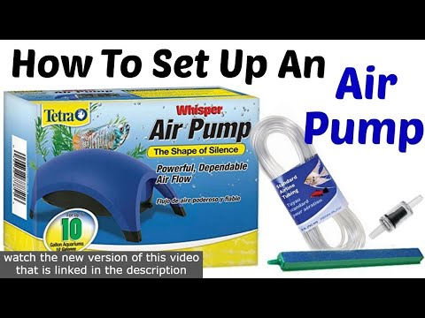 How To: Set up the Tetra Whisper Air Pump