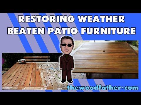 Restoring old weather beaten patio furniture