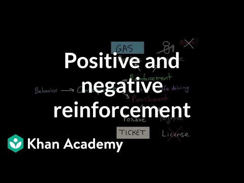 Operant conditioning: Positive-and-negative reinforcement and punishment | MCAT | Khan Academy