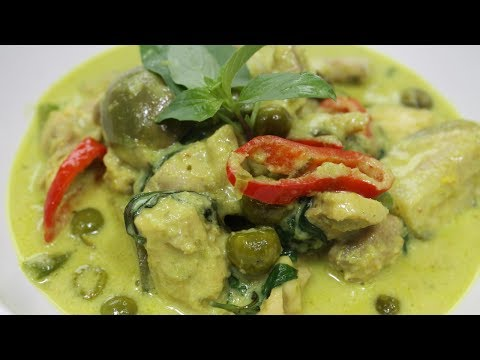 How to make Thai Green Curry Chicken - แกงเขียวหวาน - Morgane Recipes