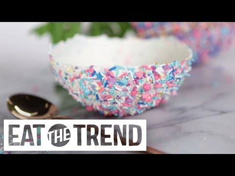 Sprinkles-Covered Edible Ice Cream Bowls | Eat the Trend