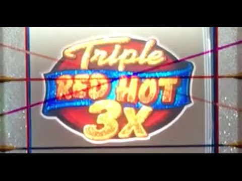 Triple Red Hot 777✦LIVE PLAY✦ Slot Machine in Las Vegas