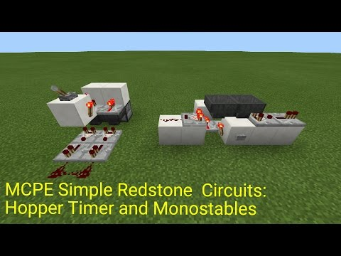 Minecraft Pocket Edition Simple Circuits: Hopper Timer and Monostables